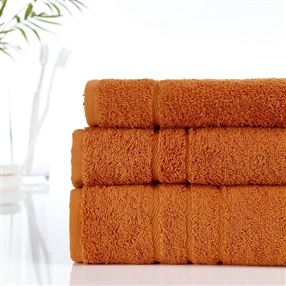500g Hotel Towels & Facecloths Burnt Orange