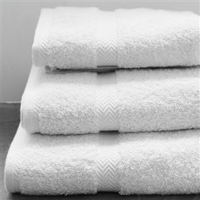 Luxury 600g Hotel Towels and Face Cloths White