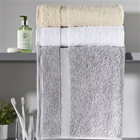 Out of Eden  Luxury 600g Hotel Towels and Face Cloths Silver Grey