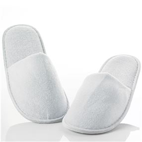 32cm Long Terry Towelling Slippers Closed Toe