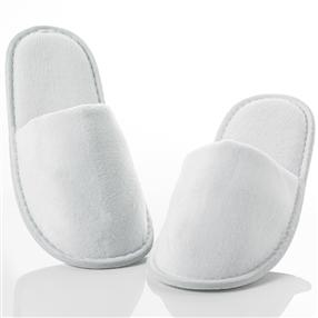 Velour Hotel Slippers, Closed Toe