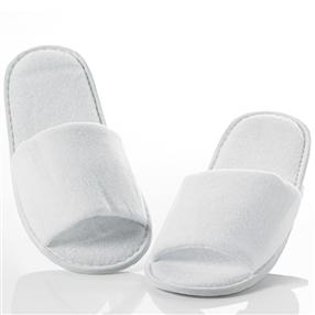 Terry Towelling Hotel Spa Slippers, Open Toe