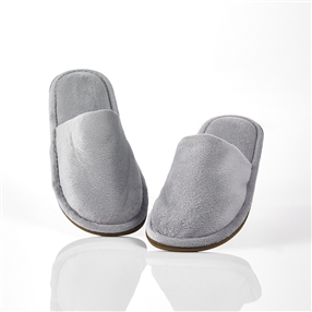 Washable Slippers, Closed Toe, Pair Silver Grey