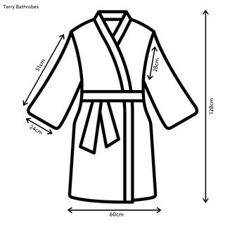 Out of Eden Classic Terry Cotton Bathrobes and Spare Belts White
