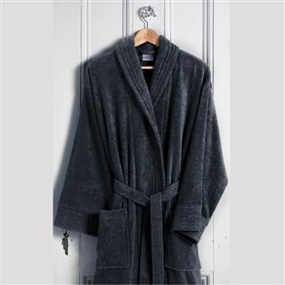 Terry Cotton Bathrobe Anthracite