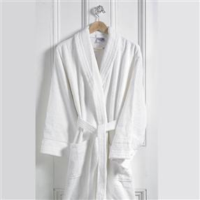 Terry Cotton Hotel Bathrobe White