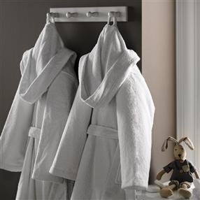 Children's Terry Cotton Bathrobe White 10 to 12 years