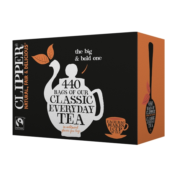 clipper fairtrade 440 one cup tea bags out of eden. Black Bedroom Furniture Sets. Home Design Ideas