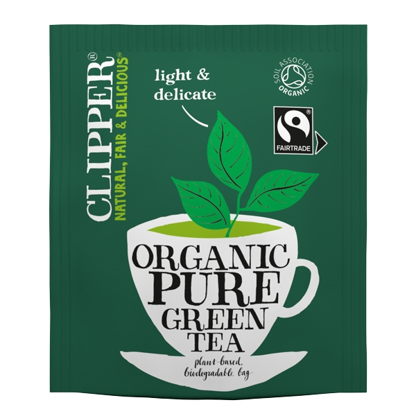 clipper fairtrade organic green tea bags out of eden. Black Bedroom Furniture Sets. Home Design Ideas