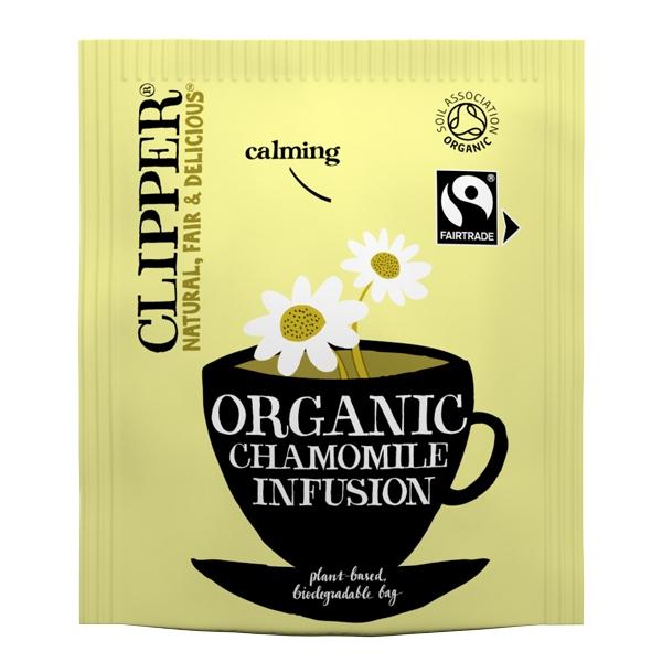 clipper fairtrade organic chamomile tea bags out of eden. Black Bedroom Furniture Sets. Home Design Ideas