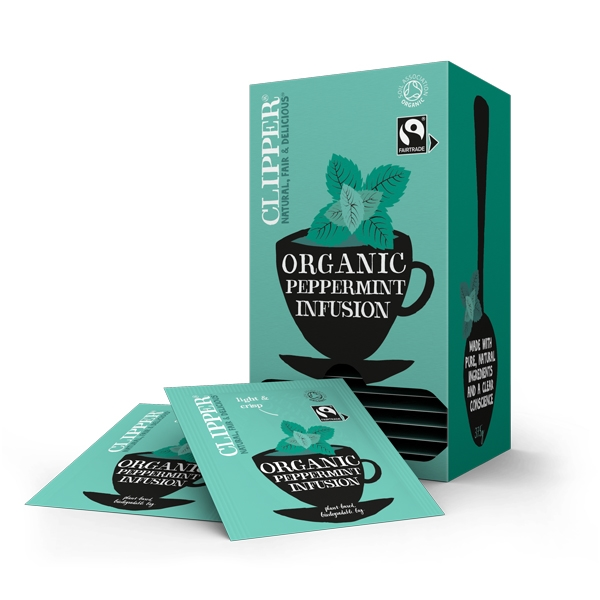 clipper fairtrade organic peppermint tea bags. Black Bedroom Furniture Sets. Home Design Ideas