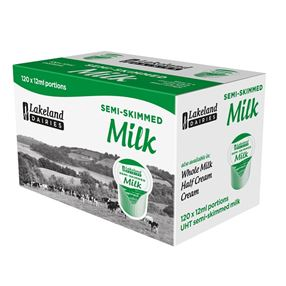 Lakeland Dairies Lakeland UHT Semi Skimmed Milk Portions
