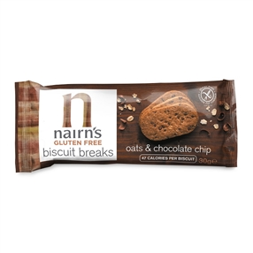 Nairn's Gluten Free Biscuit Breaks Oat & Chocolate Chip Pack of 72
