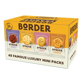 Border Biscuit Twin Packs of 48 in Four  Varieties