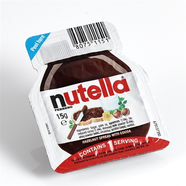 Nutella Single Portion Packs For Hospitality And Catering