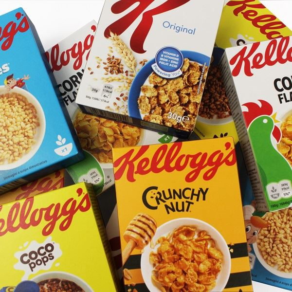 Kellogg's Mixed Case Variety Pack Of 40 Awesome Kellogg's Cereal Display Stand