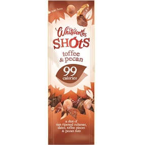Whitworth 25g Shots Toffee Pecan Pack of 16