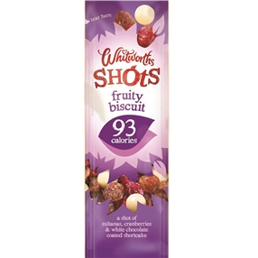 Whitworth 25g Shots Fruity Biscuit Pack of 16