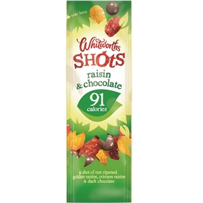 Whitworth 25g Shots Raisin & Chocolate Pack of 16