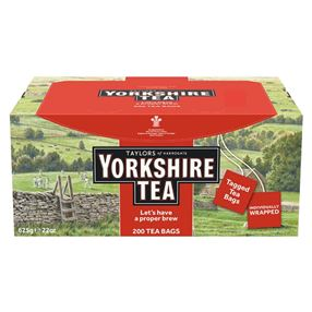 Yorkshire Tea Individually Tagged & Wrapped Pack of 200