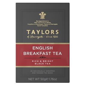 Taylors English Breakfast Tea Individually Tagged & Wrapped