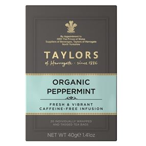 Taylors Organic Peppermint Tea Individually Tagged & Wrapped