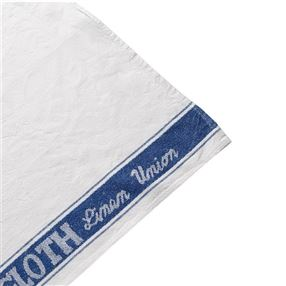 Linen Union Glass Cloths, Pack Of 12 Blue