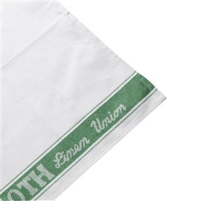 Linen Union Glass Cloths, Pack Of 12 Green