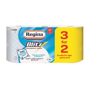 Regina Blitz Kitchen Roll - Pack of 12