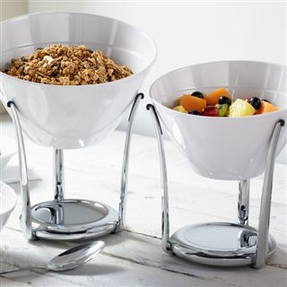 Melamine Angled Bowls and Stands