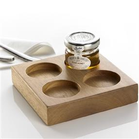 Wooden Square Jam Pot Presenter