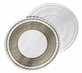 Greek Key Glass Coasters / White / 250