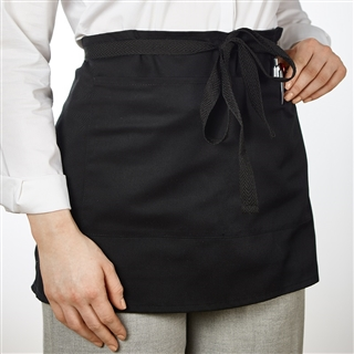 Out of Eden Short Apron With Pocket, Black