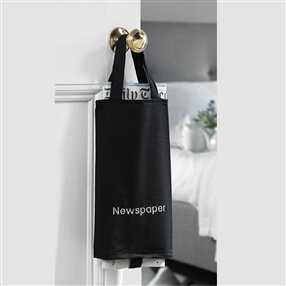 Newspaper Bag Black