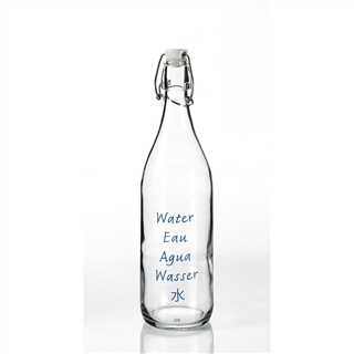 Five Languages Glass Water Bottle