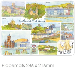 Placemat Emma Ball Regional Design  South & Mid Wales