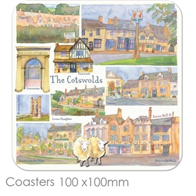 Coasters Emma Ball Regional Design, each / Cotswolds