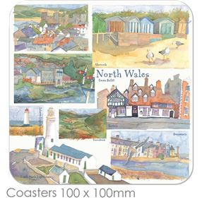 Coasters Emma Ball Regional Design, each / North Wales