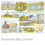 South & Mid Wales Place Mats & Coasters