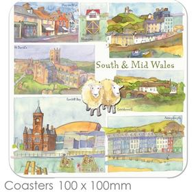 Emma Ball South & Mid Wales Place Mats & Coasters
