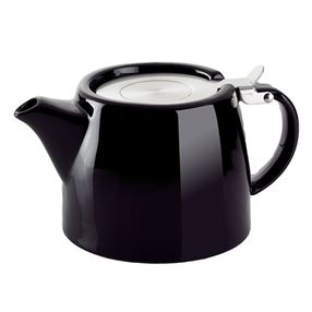 Stubby Tea Pot Black 18oz 530ml