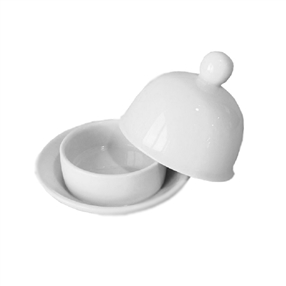Porcelite Porcelite Round Covered Butter Dish
