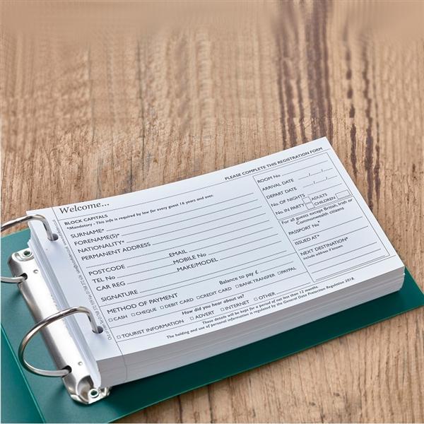 Guest Registration Cards Binder And Storage Box