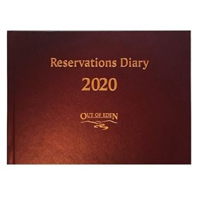 Out of Eden Reservations Diary 2020 A5 Burgundy