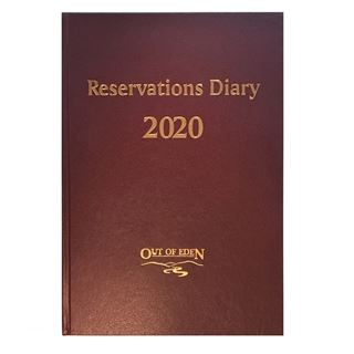 Out of Eden Reservations Diary 2020 A4 Burgundy