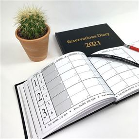Reservations Diary 2021 A5 Black