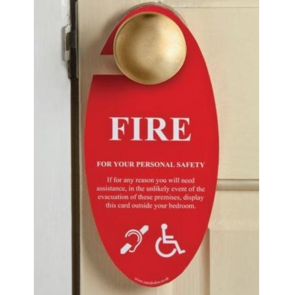 Fire Safety Door Hangers Hotel Signage Out Of Eden