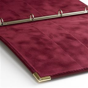 Teloman Chetham Guest Information Folder Burgundy (Gold Trim)