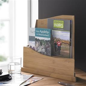 Wooden Leaflet Holder, 2 Tier