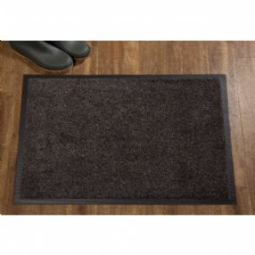 Entrance Door Mat Black Mink 85 x 120 cms